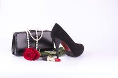 Los accesorios de las mujeres hermosas Foto de archivo libre de regalías