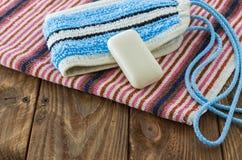 Los accesorios del baño Fotos de archivo libres de regalías