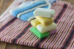 Los accesorios del baño Foto de archivo