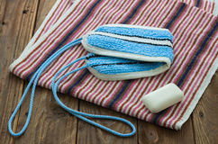 Los accesorios del baño Imagen de archivo