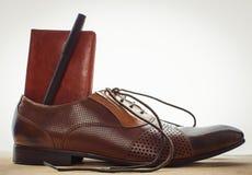 Los accesorios del hombre de negocios Imagen de archivo