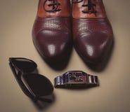 Los accesorios del hombre de negocios Fotografía de archivo