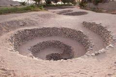 Los acueductos de Puquios en Perú Fotografía de archivo libre de regalías