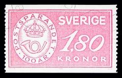 Los ahorros postales badge, serie, circa 1984 Foto de archivo