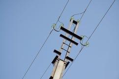 Los alambres en el polo Imagen de archivo