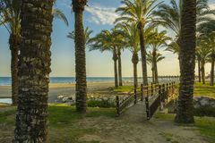 Los Alamos beach, Torremolinos city, Malaga province, Andalucia, Spain Stock Images
