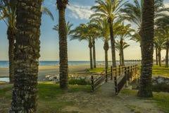 Los Alamos beach, Torremolinos city, Malaga province, Andalucia, Spain stock images