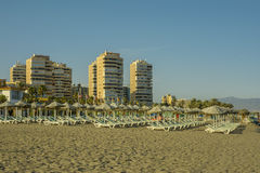 Los Alamos beach, Torremolinos, Malaga, Andalucia, Spain stock photo