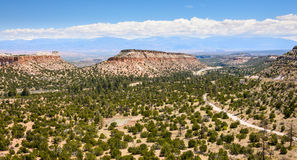 Los Alamos butte. Mexico Overlook royalty free stock photo