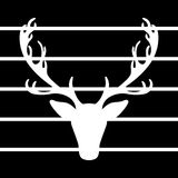Los alces del ejemplo del vector de los ciervos siluetean las líneas negras fondo Imagenes de archivo