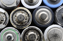 Los alte benutzte Batterien Stockfotos