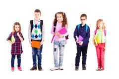 Los alumnos están listos para la escuela Imágenes de archivo libres de regalías