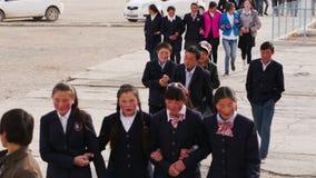 Los alumnos van a la escuela almacen de video