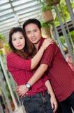 Los amantes adolescentes gozan en Tailandia Foto de archivo libre de regalías