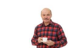 Los amantes del café intentan una nueva variedad de café o de té Imagenes de archivo
