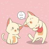 Los amantes del gato están diciendo se aman stock de ilustración