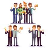 Los amigos felices, hombres de negocios en el partido vector concepto amistoso