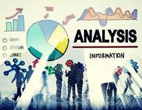 Los Analytics del análisis analizan concepto de las estadísticas de la información de datos imagen de archivo libre de regalías