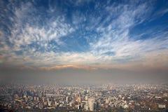 Los Andes y Santiago, Chile Imagen de archivo