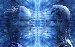 Los androides no están de acuerdo con tecnología que revela Fotografía de archivo