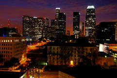 Los Angeles à l'aube Photo stock