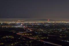 Los Angeles 4ème de nuit de juillet Image libre de droits