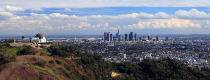 Los Angeles. Panoramic view of Downtown Los Angeles Royalty Free Stock Images