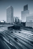Los Angeles. Freeway traffic in downtown Los Angeles Royalty Free Stock Photos