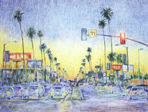 Los Angeles royalty illustrazione gratis