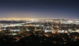 Los Angeles. Skyline at night Royalty Free Stock Photo