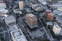 Los Angeles-Abteilung des Wassers und der Energie-Gebäude-Vogelperspektive Lizenzfreie Stockfotografie