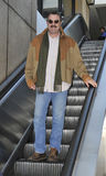 LOS ANGELES - Actor Tom Selleck is seen at LAX Stock Photo