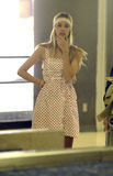 LOS ANGELES-Actress Isabel Lucas is seen at LAX Royalty Free Stock Photos