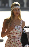 LOS ANGELES-Actress Isabel Lucas is seen at LAX royalty free stock photo