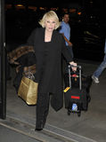 LOS ANGELES -Actress Joan Rivers is seen at LAX Stock Images