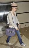 LOS ANGELES - Actress Olivia WIlde is seen at LAX Royalty Free Stock Photography