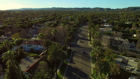 Los Angeles Aerial Beverly Hills. V50 Low flying aerial over Beverly Hills neighborhood