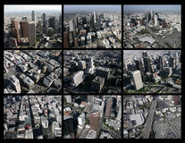 Los Angeles Aerial Editorial Collage Stock Images