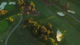 Los Angeles Aerial Golf Course stock video