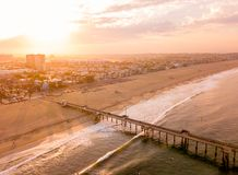 Los Angeles Aerial Sunrise Royalty Free Stock Images