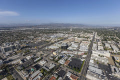 Los Angeles Aerial View of North Hollywood Neighborhood Royalty Free Stock Image