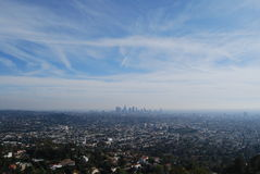 Los Angeles from afar Royalty Free Stock Image