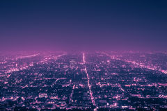 Los Angeles alla notte Fotografie Stock