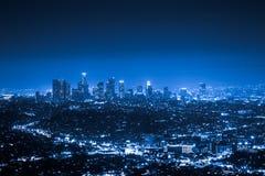 Los Angeles alla notte Fotografia Stock