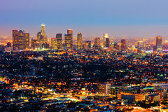 Los Angeles alla notte Fotografia Stock