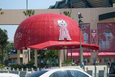 Los Angeles Angel Stadium of Anaheim - Giant Caps Stock Photo