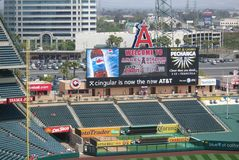 Los Angeles Angel Stadium of Anaheim Scoreboard Royalty Free Stock Photo
