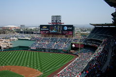 Los Angeles Angel Stadium of Anaheim Scoreboard Stock Images