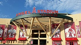 Los Angeles Angel Stadium Stock Photo