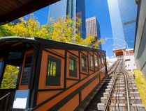 Los Angeles Angels flight funicular in downtown Stock Images